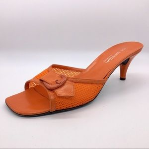 🍊Via Spiga mesh kitten heels sandals
